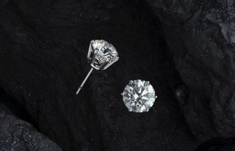 כמה עולים עגילי יהלומים זהב לבן?